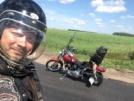 Harley-Davidson FXST 1340 Softail Custom 1995 - красный друх